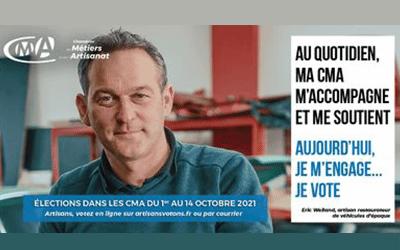 ÉLECTIONS CMA DU 1ER AU 14 OCTOBRE 2021 : JE VOTE !